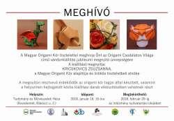 Origami vándorkiállítás nyílik január 19-én Kecskeméten