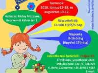 Nyári napközis múzeumi tábor - Ráday Múzeum