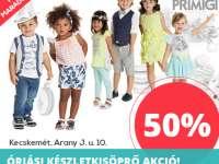 50%-os leárazás a kecskeméti FreeKid gyerekruha üzletben