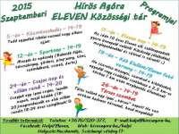 Hírös Agóra ELEVEN Közösségi tér programjai